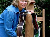 Jeannie Everett took on the challenge of painting the guitar's interior.